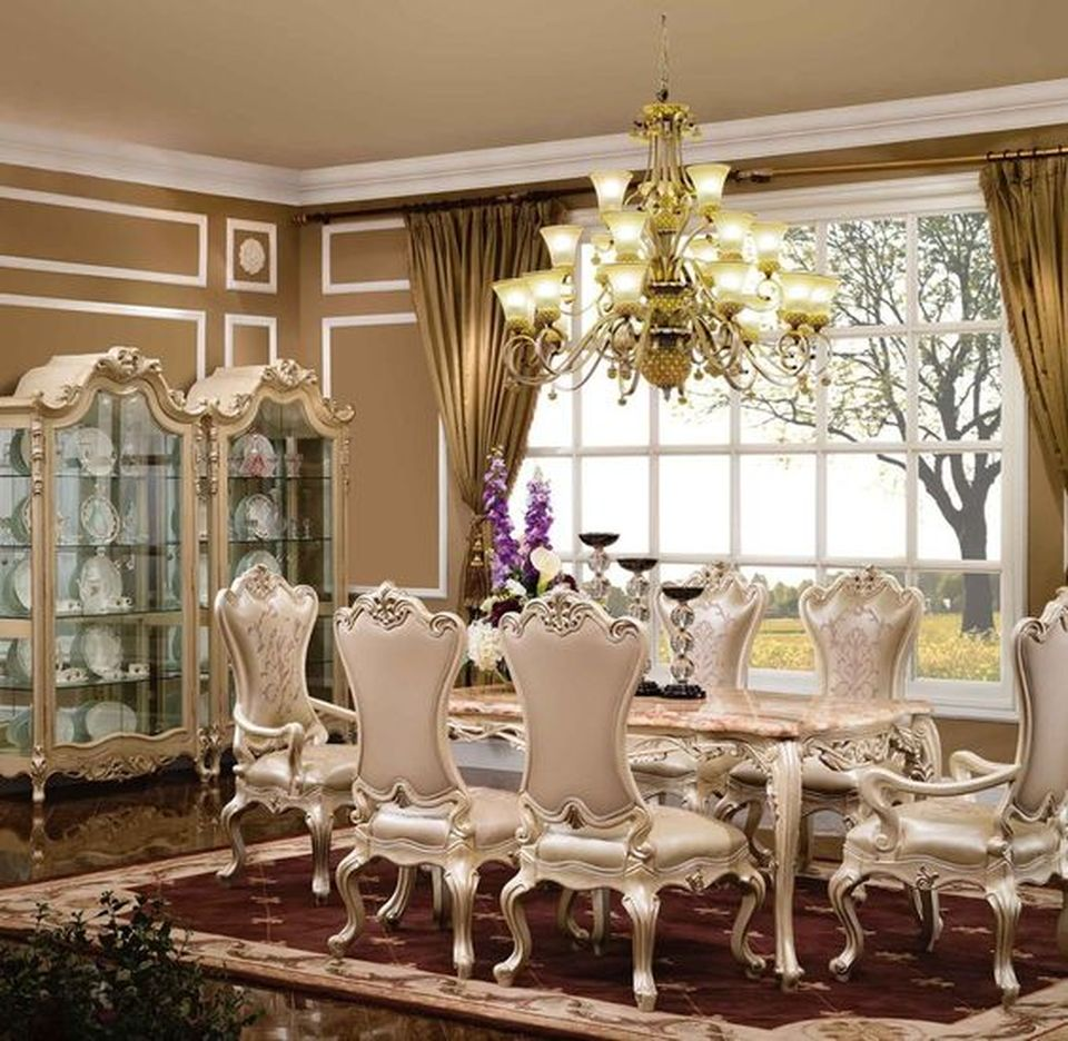 35 Luxury Dining Room Design Ideas: Glorious And Luxury Western Dining Room Design 38