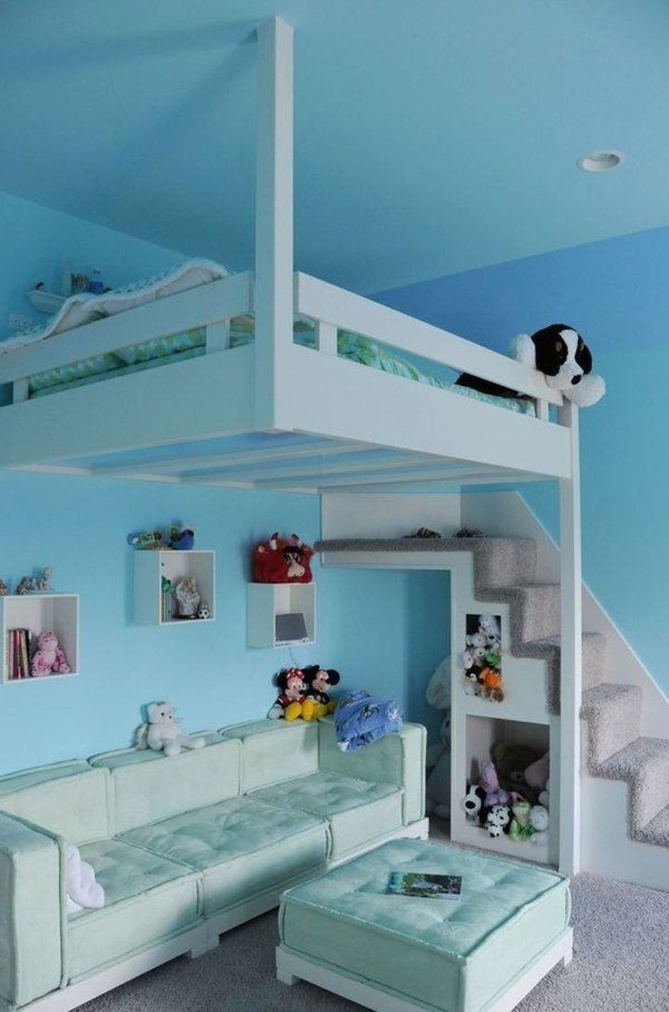 Cool Loft Bed Design Ideas For Small Room 15 Rockindeco