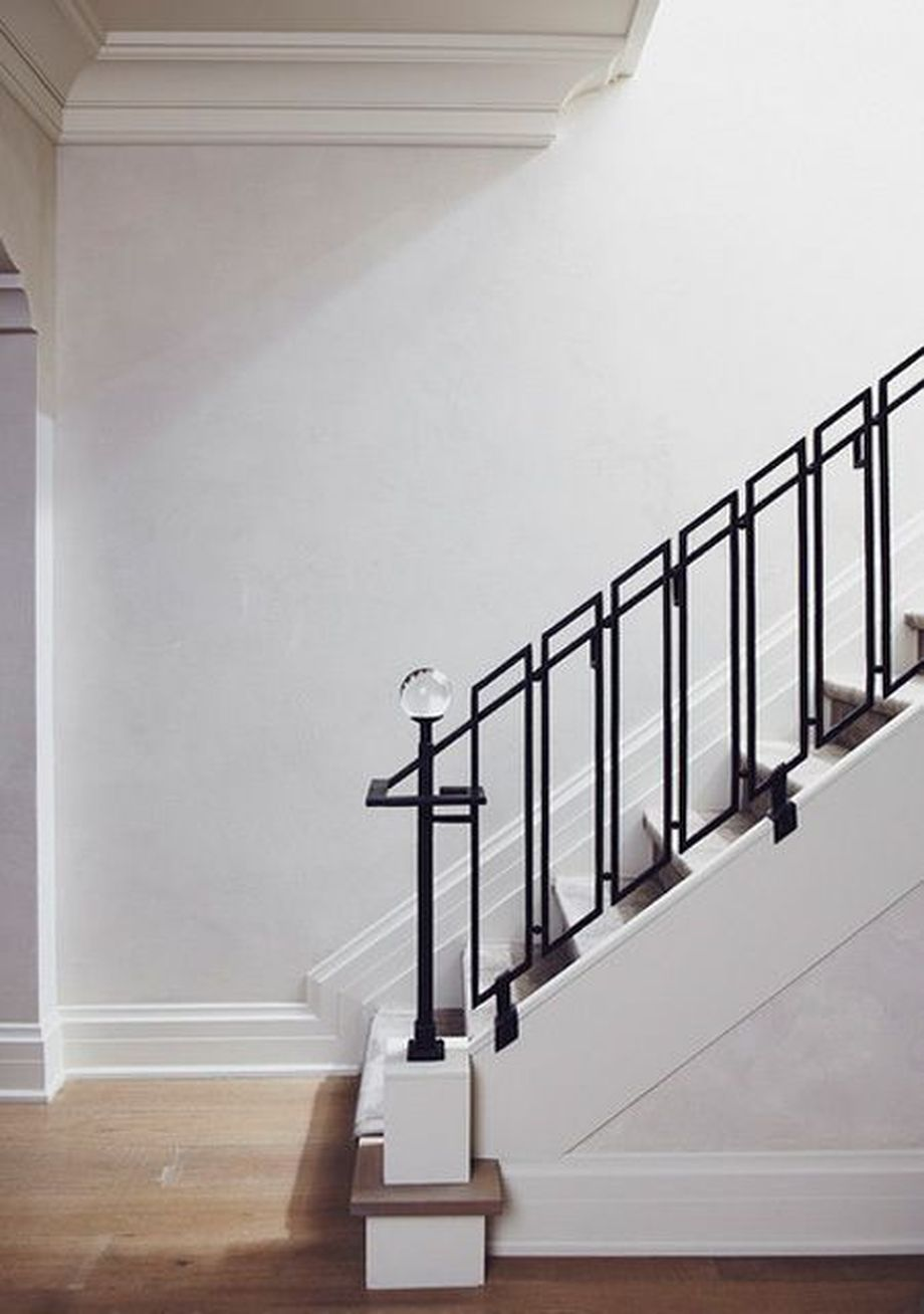 40 Best Railing Spindles And Newel Posts For Stairs: 40 Awesome Modern Stairs Railing Design 37