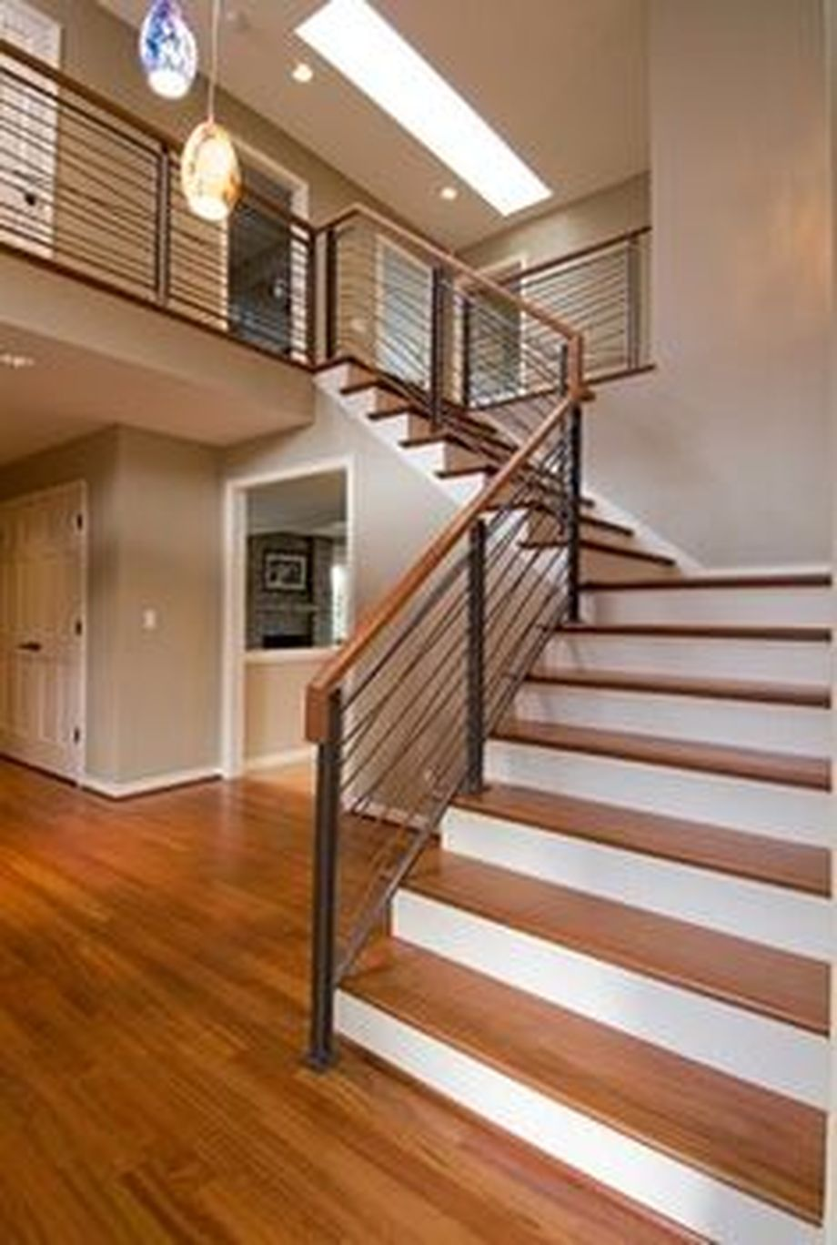 40 Best Railing Spindles And Newel Posts For Stairs: 40 Awesome Modern Stairs Railing Design 38