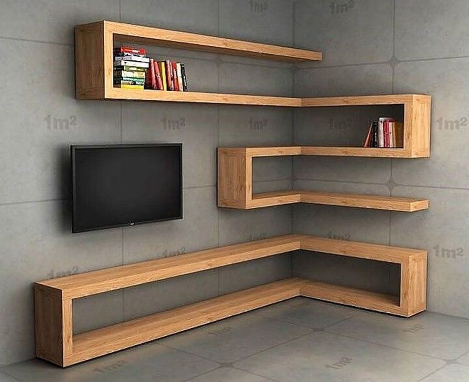 Corner Wall Shelves Design Ideas for Living Room 10 ...
